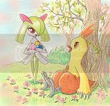 Kirlia and Combusken